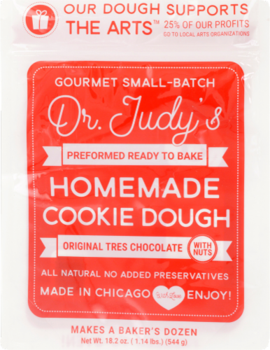 Dr. Judy's Tres Chochole with Nuts Ready to Bake Cookie Dough Perspective: front