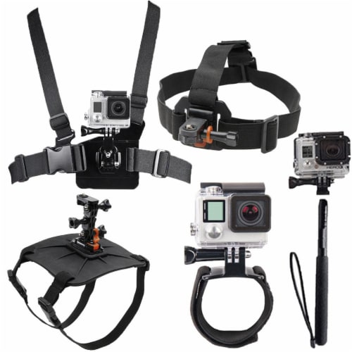 All In One Dog Mount, Chestmount, Head Mount, Wrist Band And Monopod For Gopro Hero 3/3+/4/4+ Perspective: front