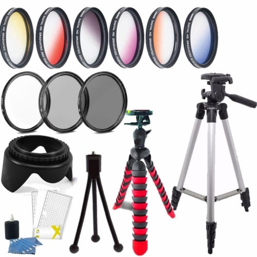 52mm Color Filter Kit With Accessories For Nikon D5500 , D5600 , D7100 And D7200 Perspective: front