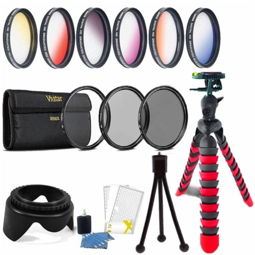 52mm Color Filter Kit With Accessory Bundle For Nikon D5300 , D5500 , D5600 , D7100 And D7200 Perspective: front