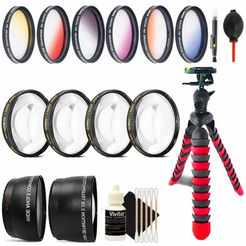 52mm Color Filter Kit With Accessories For Nikon Dslr Cameras Perspective: front
