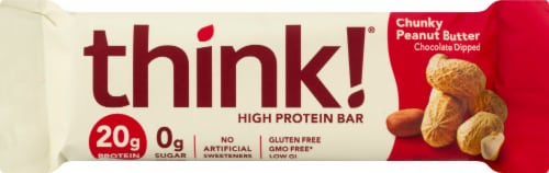 think! Chunky Peanut Butter High Protein Bar Perspective: front