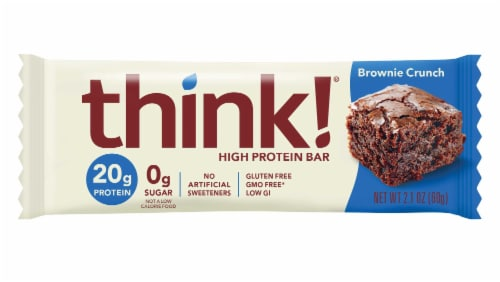 Think Thin Brownie Crunch Bar, 2.1 Ounce -- 120 per case. Perspective: front