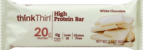 thinkThin White Chocolate High Protein Bar Perspective: front