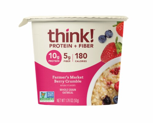 thinkThin Farmer's Market Berry Crumble Oatmeal Perspective: front