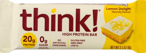think! Lemon Delight High Protein Bar Perspective: front