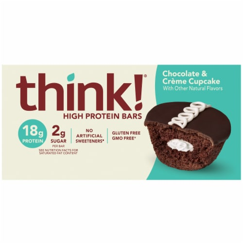 think! Chocolate & Creme Cupcake High Protein Bars Perspective: front