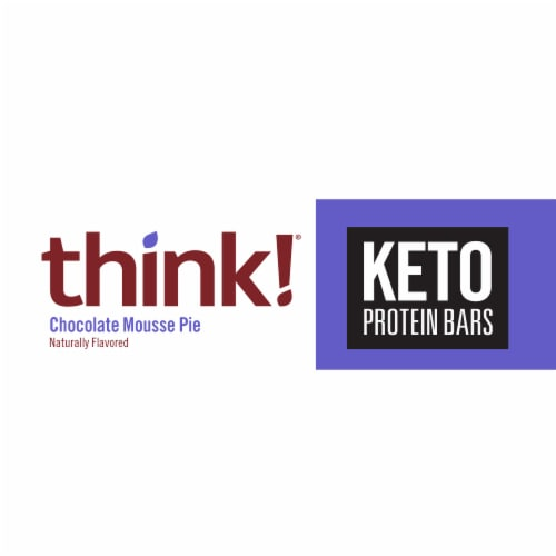 think!® Keto Chocolate Mousse Pie Protein Bar Perspective: front