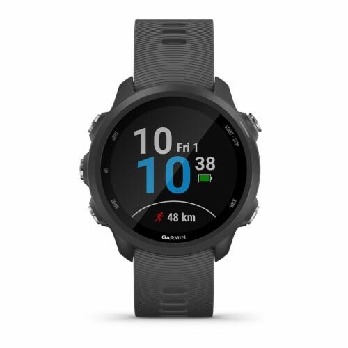 Garmin Forerunner 245 GPS Running Smartwatch - Slate Gray Perspective: front