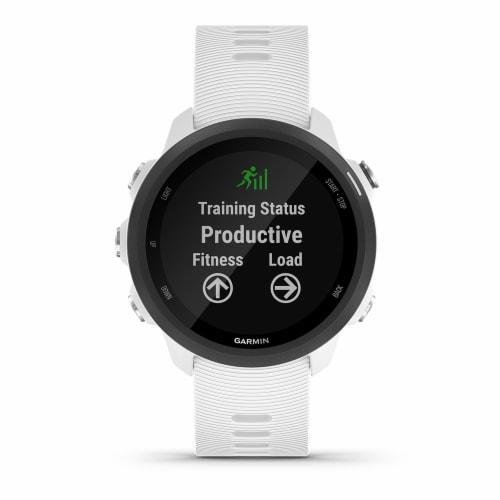 Garmin Forerunner 245 Music GPS Running Smartwatch - White Perspective: front