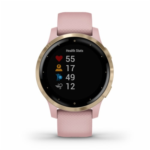 Garmin Vivoactive 4S GPS Smartwatch - Dust Rose/Light Gold Perspective: front