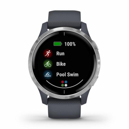 Garmin Venu GPS Smartwatch - Granite Blue/Silver Perspective: front