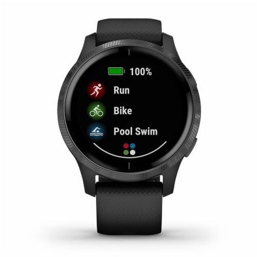 Garmin Venu GPS Smartwatch - Black/Slate Perspective: front