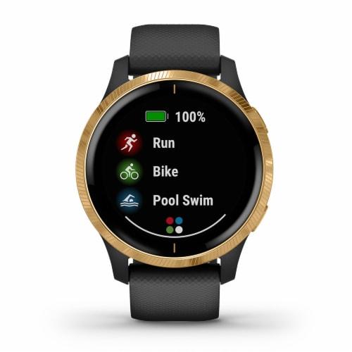 Garmin Venu GPS Smartwatch - Black/Gold Perspective: front