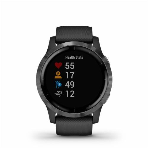 Garmin Vivoactive 4 GPS Smartwatch - Black/Slate Perspective: front
