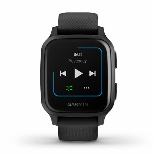 Garmin Venu Sq Music Edition GPS Smartwatch - Slate/Black Perspective: front