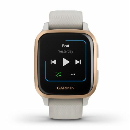 Garmin Venu Sq Music Edition GPS Smartwatch - Rose Gold/Light Sand Perspective: front
