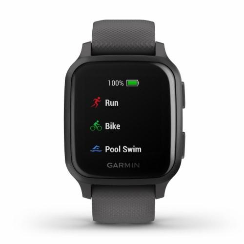 Garmin Venu Sq GPS Smartwatch - Slate/Shadow Gray Perspective: front
