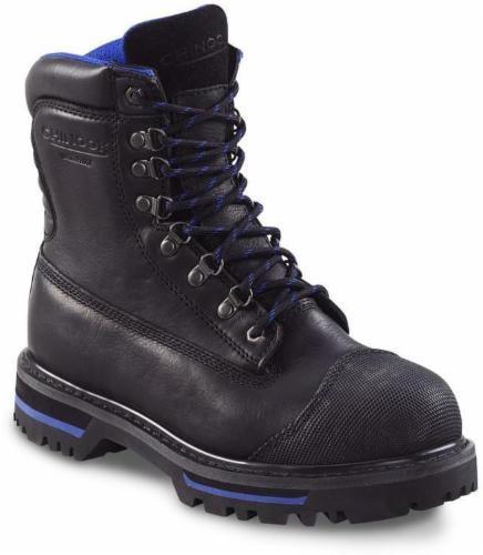 Chinook Tarantula Men's Waterproof Steel-Toe Boots - Black Perspective: front