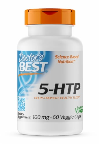 Doctor's Best 5-HTP Veggie Capsules 100mg Perspective: front