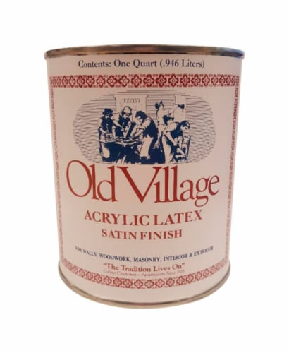 Old Village  Satin  Wild Bayberry  Water-Based  Paint  Exterior and Interior  1 qt. - Case Perspective: front