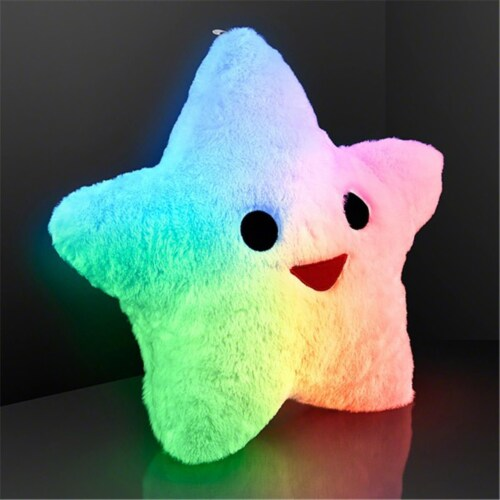 Blinkee 41 LED Super Soft Star Pillow Perspective: front