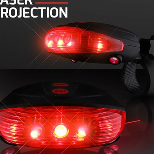 Blinkee 665041 Red Bike Light with Ground Illuminating Lasers Perspective: front