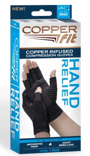 Copper Fit Hand Relief Gloves - L/XL Perspective: front