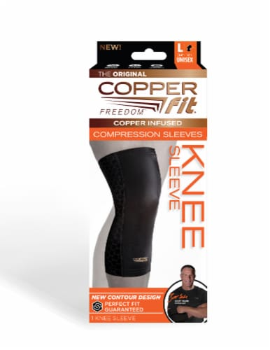 Copper Fit Freedom Knee Sleeve Perspective: front