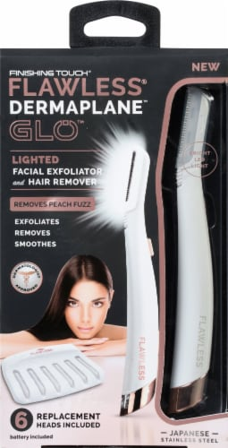 Finishing Touch® Dermaplane Glo Lighted Facial Exfoliator and Hair Remover Perspective: front