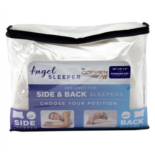 Copper Fit™ Angel Sleeper Pillow with Cover Perspective: front