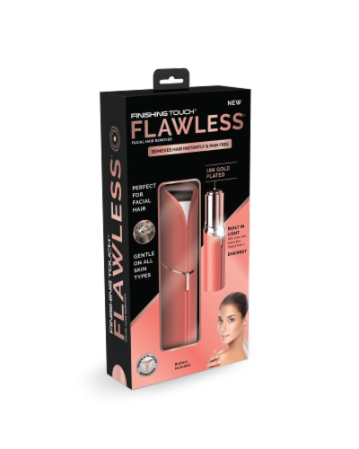 Finishing TouchFlawless Facial Hair Remover - Coral Perspective: front