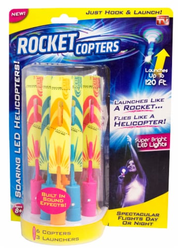 Rocket Copters Soaring LED Helicopters Perspective: front
