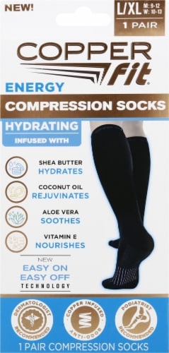 Copper Fit™ Hydrating Energy Compression Socks Perspective: front