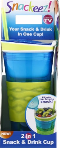 Idea Village Snackeez 2-in-1 Drink Cup Perspective: front