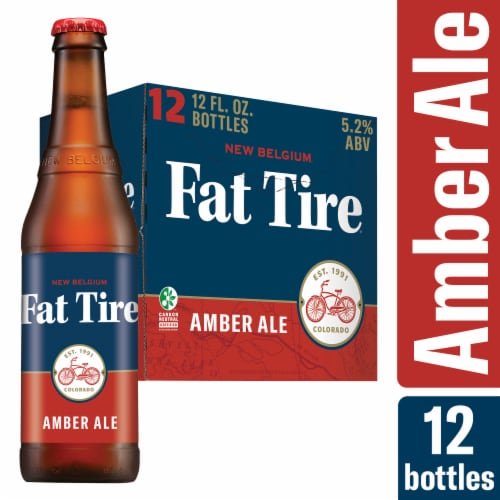 New Belgium Fat Tire Amber Ale Beer Perspective: front