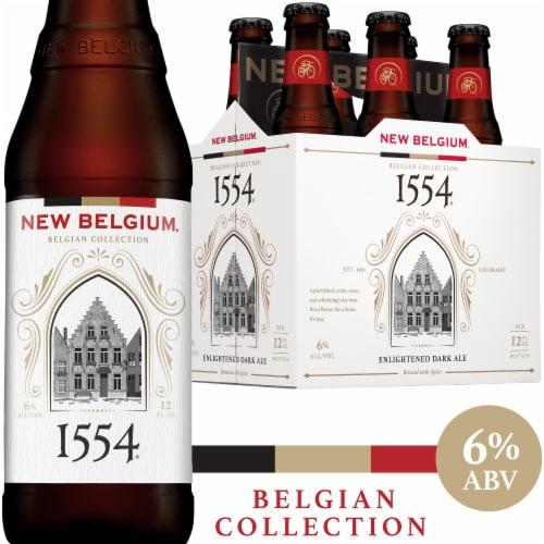 New Belgium 1554 Enlightened Dark Ale Perspective: front