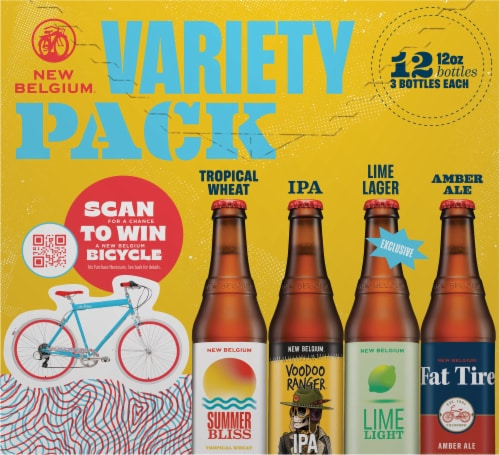 New Belgium Folly Beer Variety Pack Perspective: front