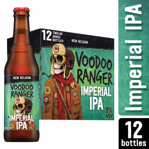 New Belgium Voodoo Ranger Imperial IPA Beer Perspective: front