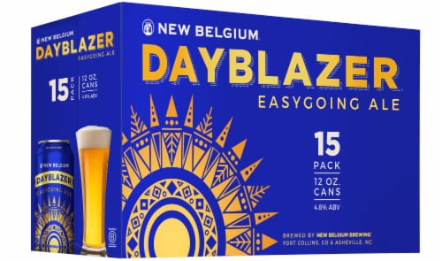 New Belgium Dayblazer Easygoing Ale Beer 15 Cans Perspective: front