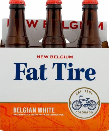 New Belgium Fat Tire Belgian White Beer Perspective: front