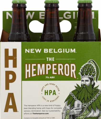 New Belgium The Hemperor HPA Beer Perspective: front