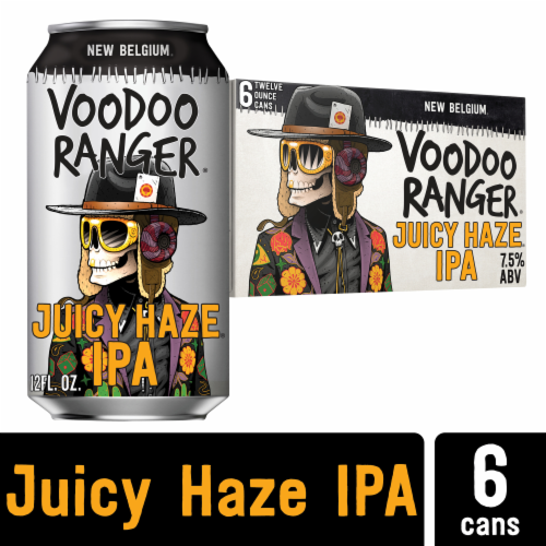 New Belgium Voodoo Ranger Juicy Haze IPA Perspective: front