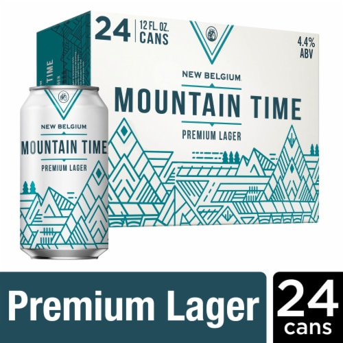 New Belgium Mountain Time Premium Lager Perspective: front