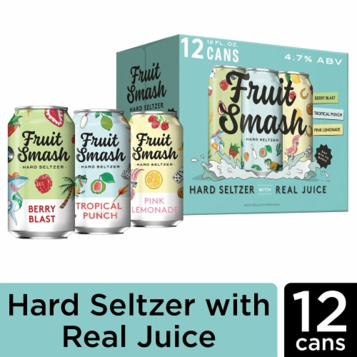 New Belgium Fruit Smash Hard Seltzer Variety Pack Perspective: front