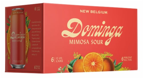 New Belgium Dominga Mimosa Sour Ale with Orange Perspective: front