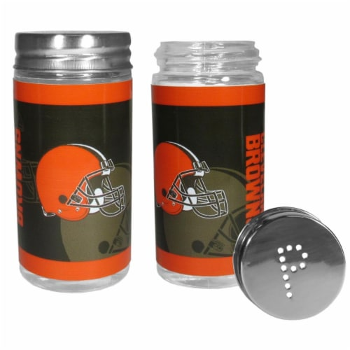 Siskiyou Sports 42842 Cleveland Browns Tailgater Salt & Pepper Shakers Perspective: front