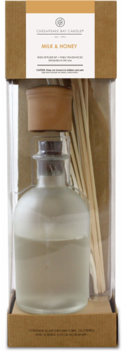 Chesapeake Bay Candle Heritage Milk and Honey Reed Diffuser Perspective: front