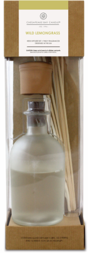 Chesapeake Bay Candle Heritage Wild Lemongrass Reed Diffuser Perspective: front