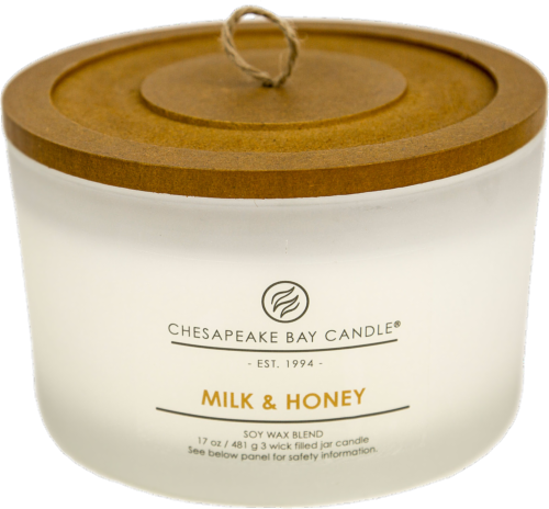 Chesapeake Bay Candle® Milk and Honey Coffee Table Jar Candle - White Perspective: front